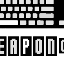 Keyboard and Mouse - My Weapon of Choice Sticker