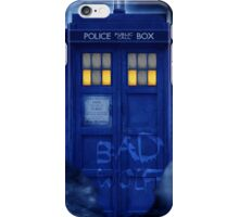 Blue Police Public Call Box  iPhone Case/Skin