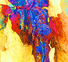 Summer Eucalypt Abstract 13 by Margaret Saheed