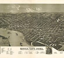 Vintage Pictorial Map of Sioux City Iowa (1888) by BravuraMedia