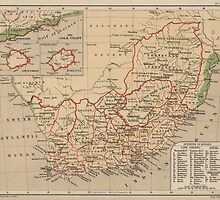 Vintage Map of South Africa (1880) by BravuraMedia
