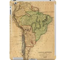 Vintage Map of South America (1821) iPad Case/Skin