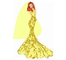 Fashion -yellow lace gown (7779 Views) by aldona