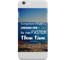 The challenge against time iPhone Case/Skin