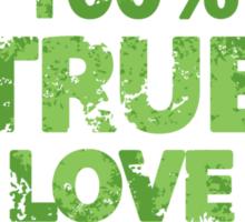 100% True Love Pink St. Valentine's Day Stamp Sticker