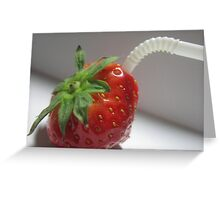 STRAWBERRY JUICE Greeting Card