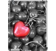 cherries with heart love iPad Case/Skin