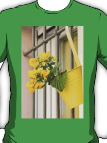 yellow flowers on the balcony T-Shirt