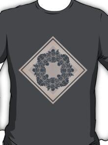 Dark and Light Symmetric Flowers T-Shirt