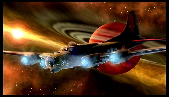 Space Ship B17  by Cliff Vestergaard