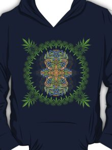 Psychedelic cannabis jungle spirit T-Shirt
