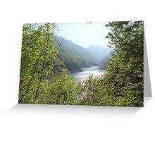 landscape lake Greeting Card