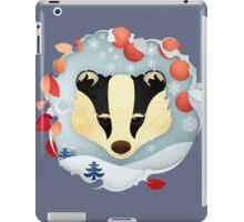 Snowy Badger iPad Case/Skin