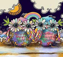 Aloha Owls by © Karin  Taylor