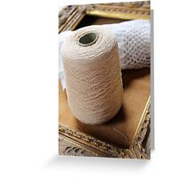 skein of wool and frame Greeting Card