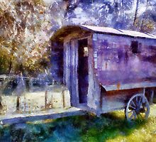Old Shepherd's Trailer by Andrea Ida Rausch