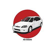 Honda Civic EK Type-R Photographic Print