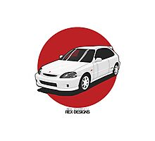Honda Civic EK Type-R Photographic Print