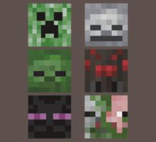 Minecraft Mobs Faces Pixel Art by Dangelus974