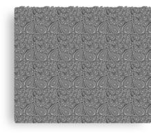 Black&white line art leaves Canvas Print