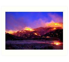 Palomino Valley Wild Fire (The Ironwood Fire) Art Print
