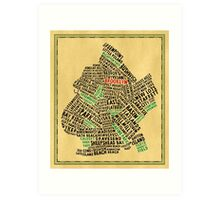 Brooklyn New York Typography Map Art Print