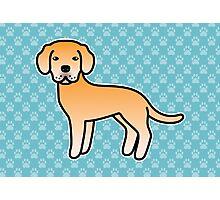 Yellow Labrador Retriever Cartoon Dog Photographic Print