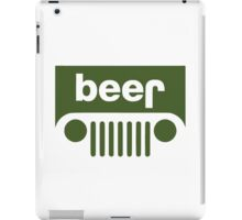 Drink beer in a truck or jeep. iPad Case/Skin