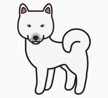 White Shiba Inu Dog Cartoon Kids Clothes