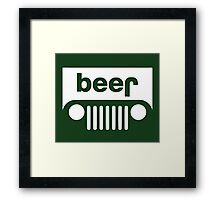 Beer Jeep Framed Print