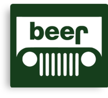 Beer Jeep Canvas Print