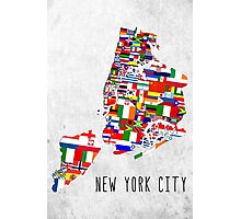 United Flags of New York City Photographic Print