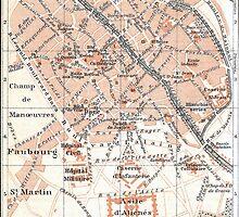 Vintage Map of Tournai Belgium (1905) by BravuraMedia