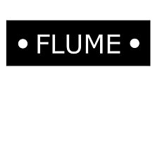 Flume logo - White letters by luigi2be