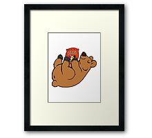 Candy Coated Chocolate Bear Framed Print