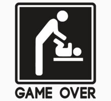 Game Over New Baby for Parent Dad by TheShirtYurt