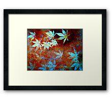 Nine Leaves A Minute... Framed Print