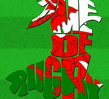 Wales Home of Rugby Typographic Map by icoNYC