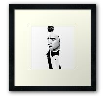 Justin Timberlake Double Exposure Framed Print