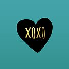 XOXO Heart by Leah Flores