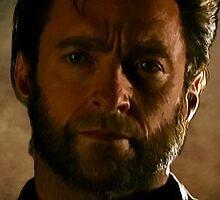 Hugh Jackman Wolverine Digital Painting by verypeculiar