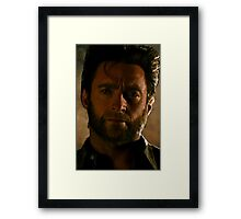 Hugh Jackman Wolverine Digital Painting Framed Print