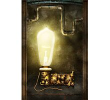 Steampunk - Alphabet - L is for Light Bulb Photographic Print