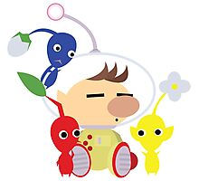 Olimar and Pikmin Vector Photographic Print