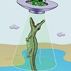Alien Abduction Trauma (crocodile edition) by Thingsesque