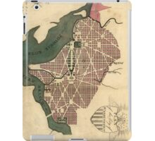 Vintage Map of Washington D.C. (1793) iPad Case/Skin
