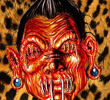 SHRUNKEN HEAD L PRINT by DGSDIRECT