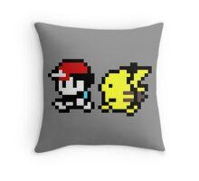Ash and Pikachu Throw Pillow