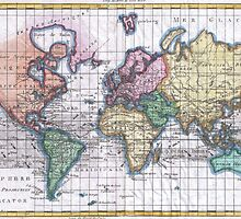 Vintage Map of The World (1780) by BravuraMedia