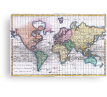 Vintage Map of The World (1780) Canvas Print